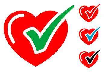 Pictograma corazon sano con varios colores