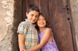 portrait of two happy children, outdoor