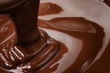 melted dark chocolate flow - 73873592