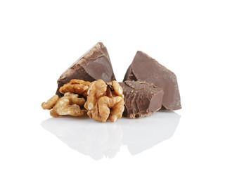 dark chocolate chunks with walnut