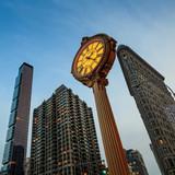 Fototapety Landmark Fifth Avenue cast iron sidewalk clock