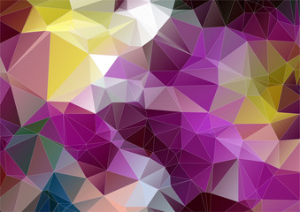 Yellow Violet abstract polygonal background