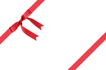 composition for packaging with classic red ribbon bow