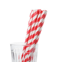 vivid eco friendly striped paper straws in glass
