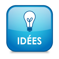 """Bouton Web """"IDEES"""" (solutions idées innovation imagination rêve)"""