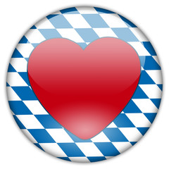 Button Patch Ich liebe Bayern