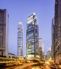 Central Hong Kong at night