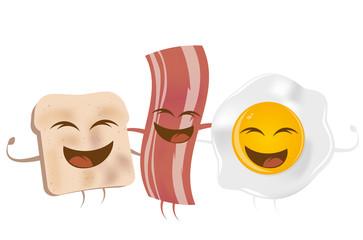 toast speck ei frühstück lustig