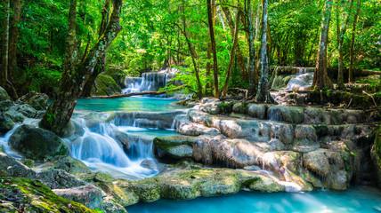 Beautiful waterfall in the morning time