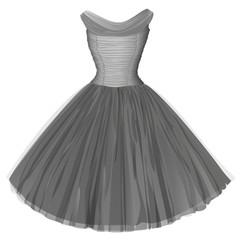 Gray ball dress
