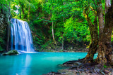 waterfall in the tropical forest where is in Thailand National P