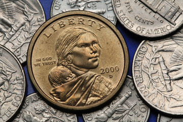 Coins of USA. Sacagawea Dollar