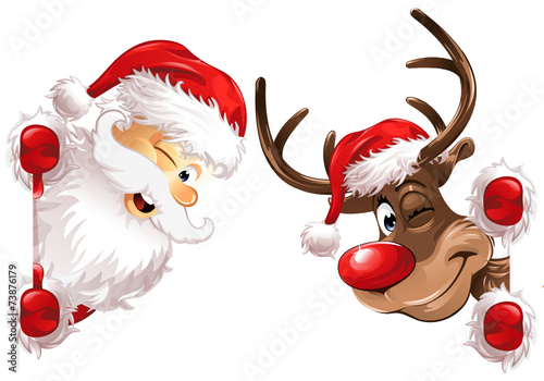 Narożnik Santa i Rudolph