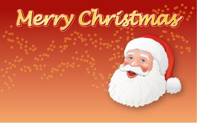 Weihnachtsmann mit MERRY CHRISTMAS
