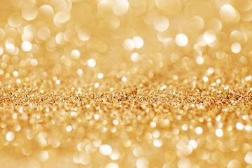 Abstract golden bokeh magic background