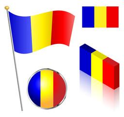 Romanian Flag Set