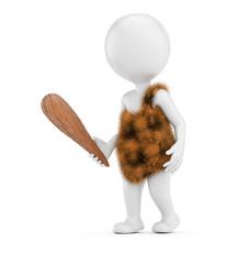 3D white caveman