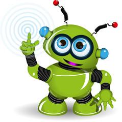 Cheerful Green Robot