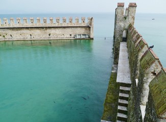 The harbor of the Scaliger Castle in Sirmione