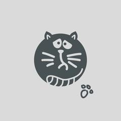 dull cat. vector