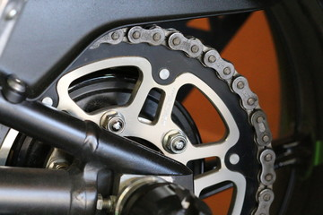 motorcycle wheel and drive.