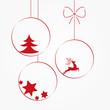 Zdjęcia na płótnie, fototapety, obrazy : Boże Narodzenie, bombka, święta, kartka, życzenia