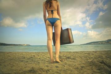 Traveller at the beach