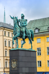 Statue of Charles XIV John king of Sweden