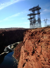 High tension pylons at Glenn Canyon USA