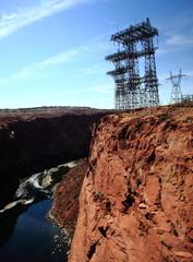 High tension pylons at Glenn Canyon USA