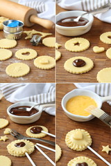 Pie pops with cocolate step by step