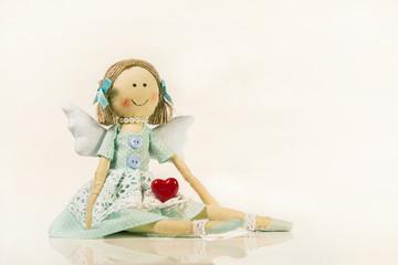 Verliebter Engel: Schutzengel Grußkarte zum Valentinstag