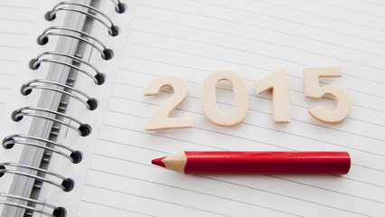 2015 sur carnet a spirales crayon