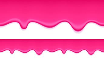 Pink jelly dripping background. Liquid flow.