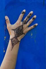 Traditionelle Marokkanische Handtätowierung