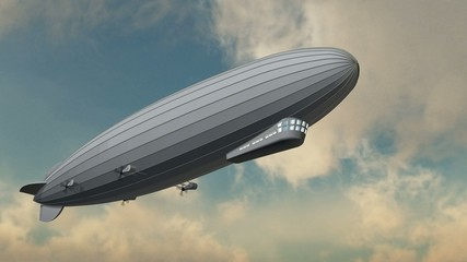 Zeppelin in Fly - close up