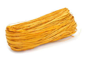 yellow natural raffia
