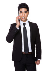 Businessman chat on mobile phone