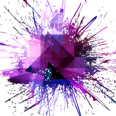 abstract splash of paint background