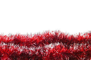 Christmas decoration, isolated, over white