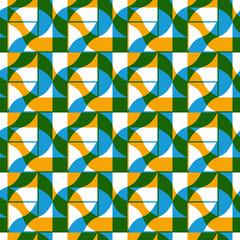 Ornate mosaic seamless pattern, geometric vector background.
