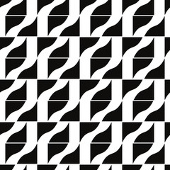 Mosaic tiles seamless pattern, vector background.