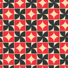 Vector geometric background with rhombs and crosses, contrast te