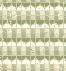 Vintage bright geometric seamless pattern, stained glass abstrac