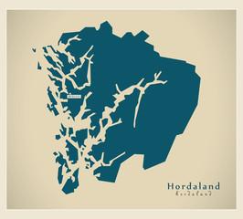 Modern Map - Hordaland NO