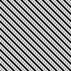 Black and White Dollar Signs and Stripes Pattern Repeat Backgrou