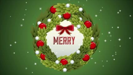 Merry christmas ornament animation