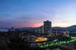 Beautiful Sunset Sky at Hua Hin Cityscape, Thailand