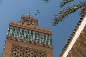 Koutoubia-Moschee in der Medina von Marrakesch