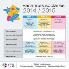 Vacances scolaires 2014-2015